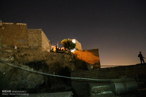 إنهيار جبلي في مدينة أهواز