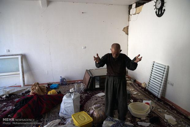 Earthquake damage in Sarpol-e-Zahab