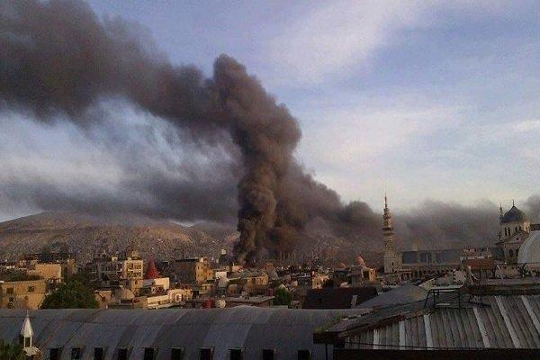 دمشق پر وہابی دہشت گردوں کے راکٹ حملوں میں 4 افراد جاں بحق