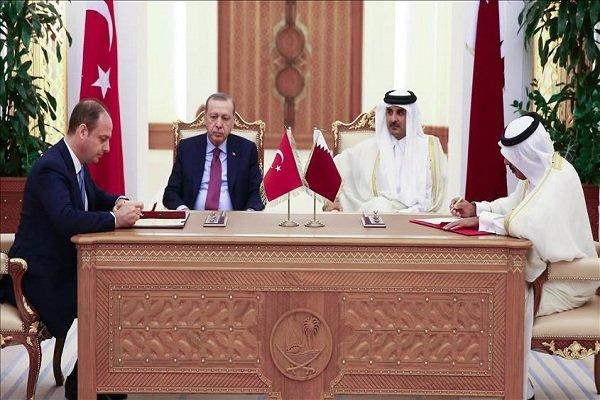قطر کے بادشاہ اور ترک صدر کی ملاقات