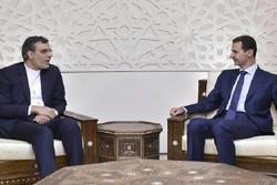جابری انصاری و بشار اسد