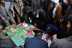 مراسم تشییع پیکر دو شهید مدافع حرم، سید احمد حسینی و حجت الاسلام محمود تقی پور در مشهد