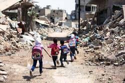 رفتن به مدرسه در مناطق جنگی سوریه