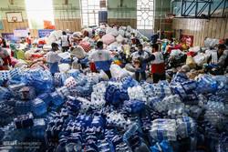 """المساعدات الشعبية من أهالي """"همدان"""" من أجل المنكوبين جراء الزلزال/ صور"""