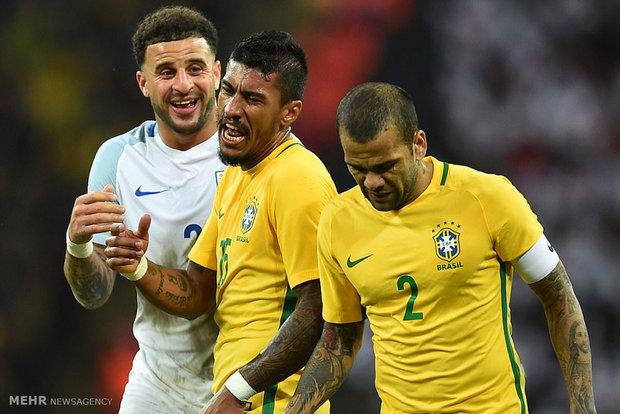 دیدار تیم های ملی فوتبال انلگیس و برزیل