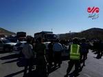 کمربندی اسلامآباد غرب- سرپلذهاب توسط پلیس مسدود شد