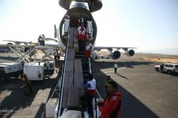ارسال محموله هوایی ۹۲ تنی هلال احمر استان تهران به مناطق زلزله زده