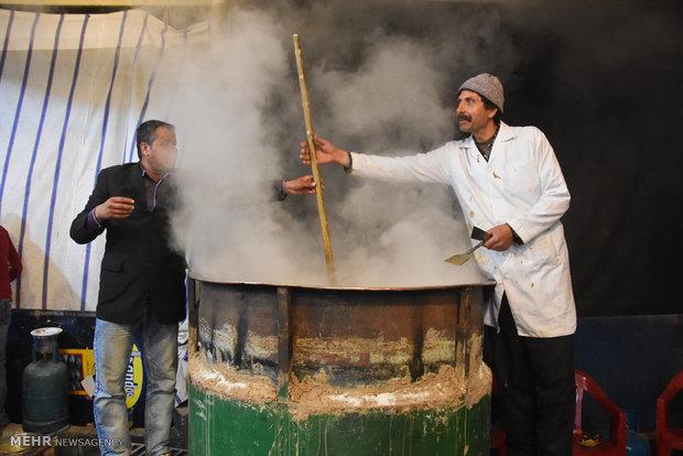 جشنواره پخت سمنوی سنتی نذری شهرضا