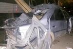یک کشته و ۲ مجروح در برخورد تاکسی با تیربرق در رزن