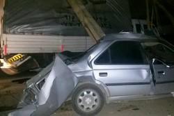 تصادف پژو در یاسوج