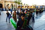پرچم گلدسته امامزاده حسین(ع) در قزوین تعویض شد