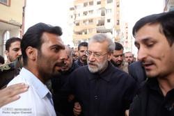 ایرانی اسپیکر کا زلزلہ سے متاثرہ علاقوں کا دورہ