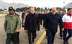 Larijani visits quake-hit Kermanshah province