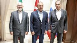 Javad Zarif, Sergei Lavrov and Mevlut Cavusoglu