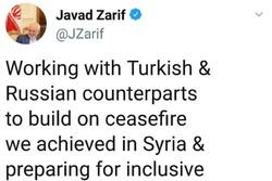 ظريف: نعمل مع تركيا وروسيا لتوفير حوار شامل بين السوريين