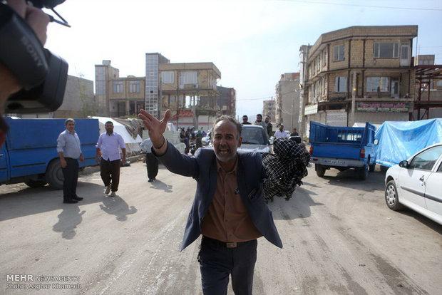 بازدید رئیس مجلس از مناطق زلزله زده سر پل ذهاب