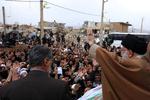 بازدید و سخنان رهبر انقلاب در روستای زلزله زده اهل سنت کوئیک