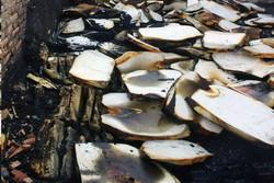 آتش سوزی در کارگاه تولید ابر و اسفنج در جاده ورامین