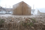 دردسرهای باران در مناطق زلزله زده /کانکسهایی که نرسیدند