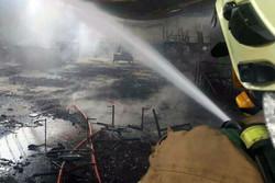 آتش سوزی کارگاه مبل جاده ساوه