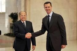 بشار اسد میشل عون