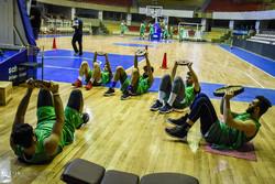 تمرین تیم ملی بسکتبال