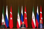 Putin, Rouhani, Erdogan hold joint presser in Sochi