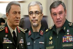 روسای ارتش ایران، روسیه و ترکیه