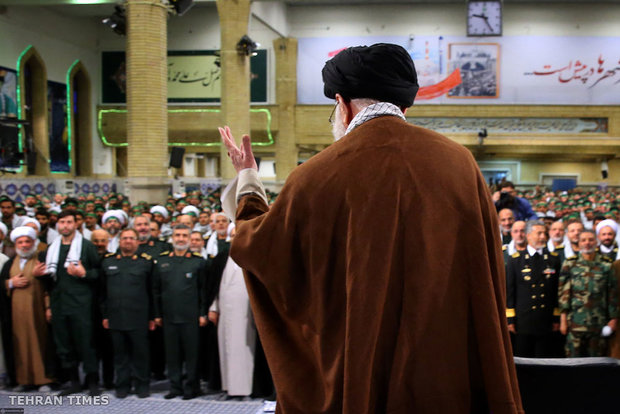Basij commanders and forces meet with Ayatollah Khamenei