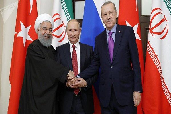 شام کے بارے میں روحانی، اردوغان اور پوتین کا سہ فریقی سربراہی اجلاس