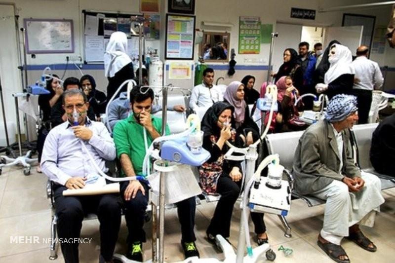 افزایش بیماران تنگی نفس در خوزستان به ۱۷۸۲ نفر