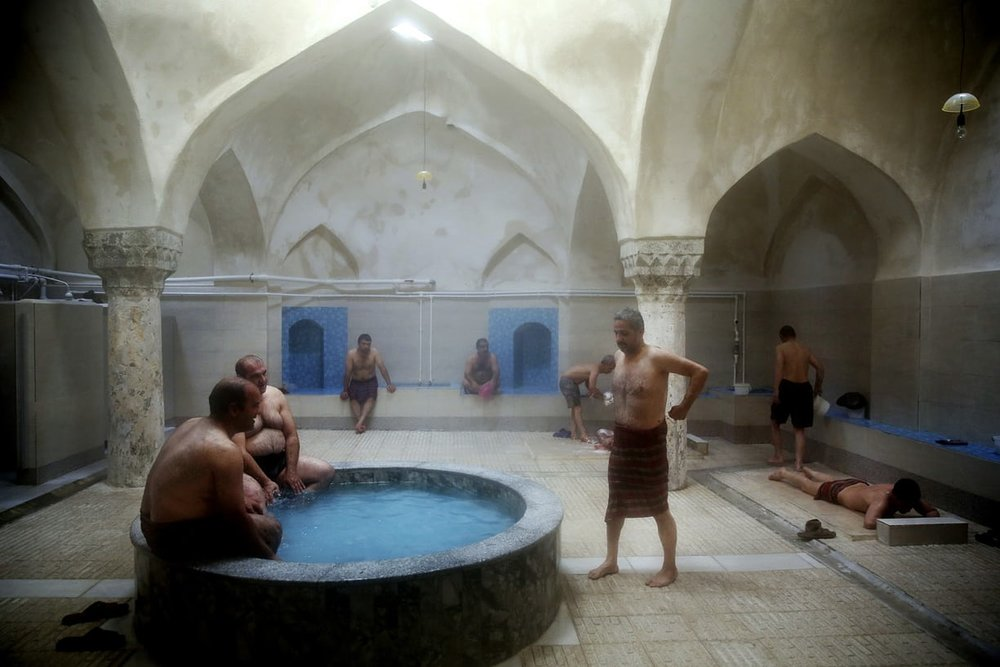 Iranian bathhouse: A meeting place for cleaning up