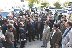 بازدید وزیر راه و شهرسازی از بیمارستان زلزله زده اسلام آباد غرب