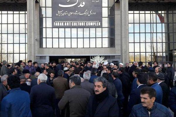 پیکر «مجید واحدیزاده» هنرمند تئاتر و تلویزیون در اردبیل تشییع شد