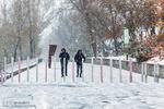 تبریز میں موسم خزاں کی پہلی برف باری