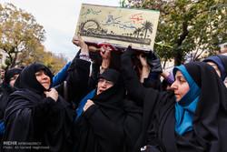 تشییع پیکر شهید عبدالحسین عبداللهی در تبریز