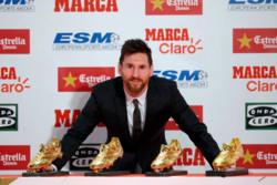لیونل مسی چهارمین کفش طلا را دریافت کرد