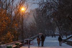 1st autumn snow covers Tabriz