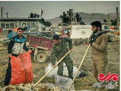 حضور جهادگران امام علی (ع) تهران در نقاط زلزله زده کرمانشاه