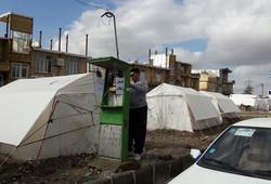 تلفنهای همگانی GSM در اردوگاه اسکان سیل زدگان نصب شد