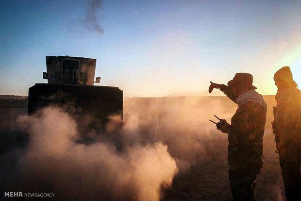حركة النجباء تباشر بتطهير الاراضي العراقية من دنس داعش