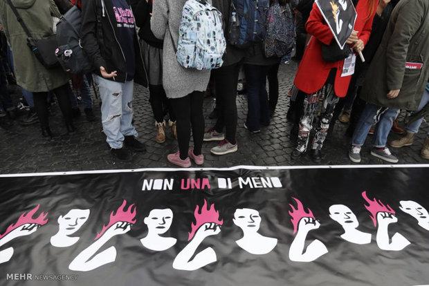 راهپیمایی زنان در نقاط مختلف جهان