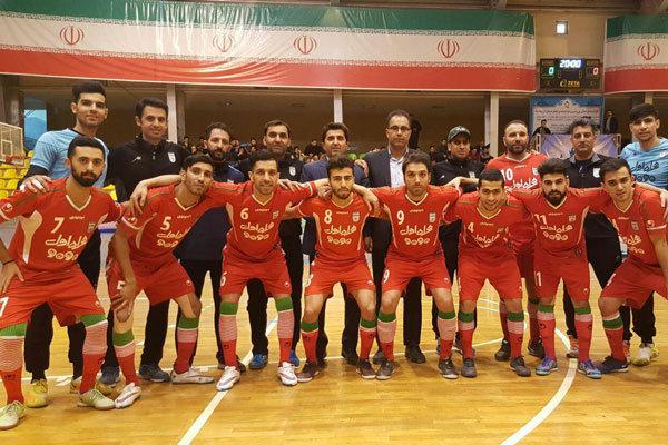 برتری تیم ملی فوتسال ایران برابر شاهین کرمانشاه
