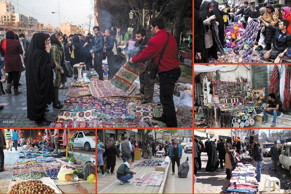 گزارش مهر؛ پای دستفروشان روی نفس بازاریان بوشهر/ بساط دستفروشی ساماندهی شوند