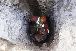 سقوط کارگر افغان در چاهی به عمق ۲۵متر/ مصدومیت شدید مقنی