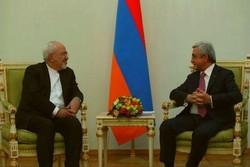ایرانی وزیر خارجہ کی آرمینیا کے صدر سے ملاقات