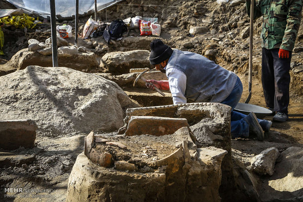 Archaeological excavations in Hamedan