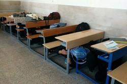 مانور زلزله در مدارس مهرستان برگزار شد