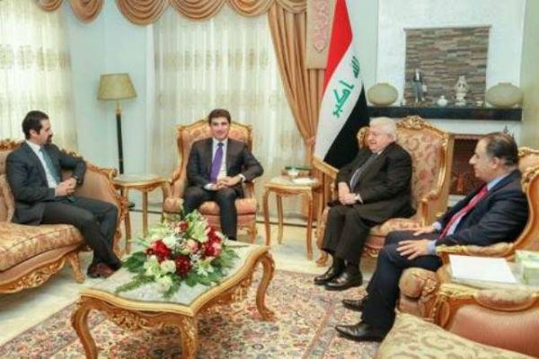 Irak Cumhurbaşkanı Masum Erbil'de NeçirvanBarzani ile görüştü