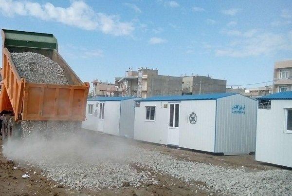 نصب 15 ألف كرفان في المناطق المنكوبة بالزلزال بمحافظة كرمانشاه